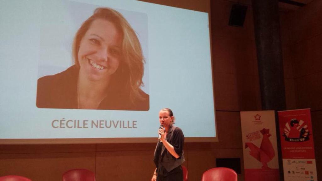 Cécile Neuville, psychologue, en conférence