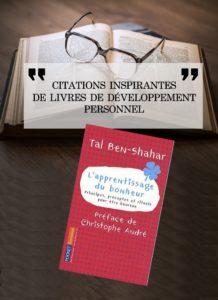 25 Citations Du Livre L Apprentissage Du Bonheur De Tal
